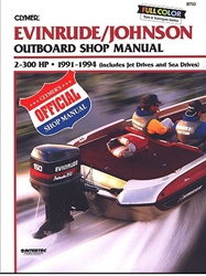 Evinrude Johnson Outboard Manual | Service, Shop and Repair Manuals for  1991-1994 2-300 HP Engines